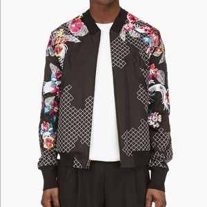 3.1 Phillip Lim Floral Jacket Embroidery Bomber